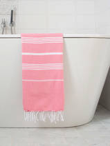 hammam towel candy pink/white