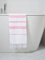 hammam towel white/candy pink
