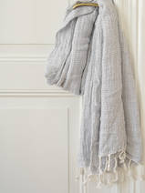 hammam towel double layered grey