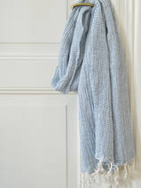 hammam towel double layered jeans blue