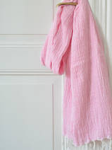 hammam towel double layered sorbet pink