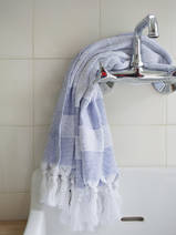 hammam towel with terry cloth, parliament blue