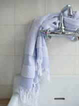 hammam towel with terry cloth, lavender blue